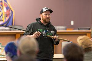 Utah Tiger Muskie Seminar Joe Weisner briefs Equipment